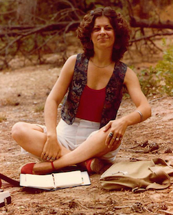 Janet_Cannon_ReadingHerPoetry_DH_Lawrence_Ranch_NM_circa_1978