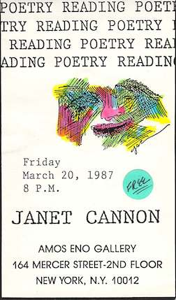 Janet_Cannon_Poetry_Reading_Amos_Eno_Gallery_NYC_NY_1987