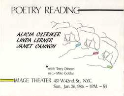 Janet_Cannon_Poetry_Reading_Image_Theater_NYC_1986