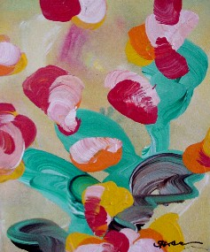 Floral 5 (acrylic on canvas, 8 x 10 in.)