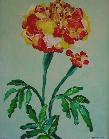 Carnation (acrylic on canvas, 24 x 30 in.)
