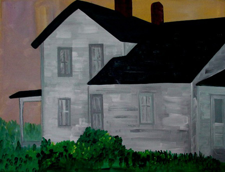 Farmhouse Ten (acrylic on canvas, 30 x 24 in.)