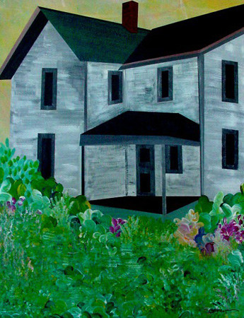 Farmhouse Fourteen (acrylic on canvas, 24 x 30 in.)