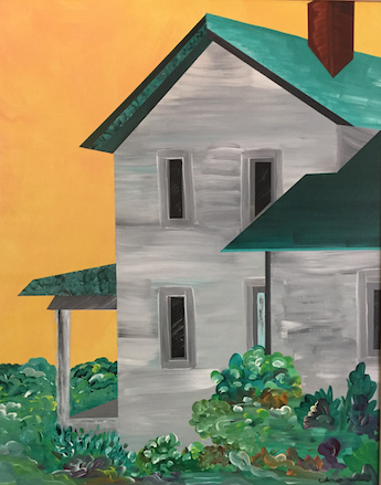Farmhouse Three (acrylic on canvas, 24 x 30 in.)