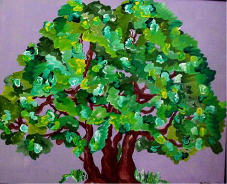 Gordo Tree (acrylic on canvas, 30 x 24 in.)