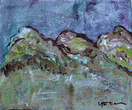 Mountain Series 1 (acrylic on canvas, 10 x 8 in.)